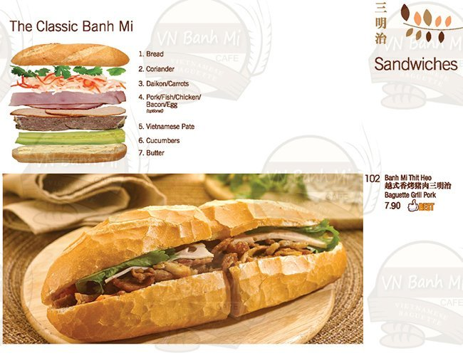 banh mi cafe menu 1