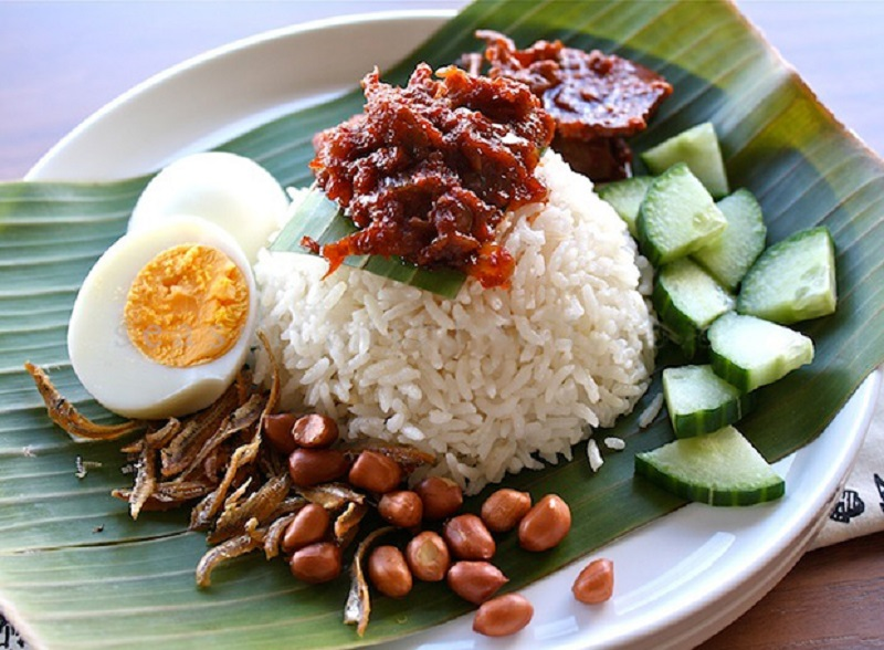 Malay Coconut Milk Rice Nasi Lemak Aroma Asian