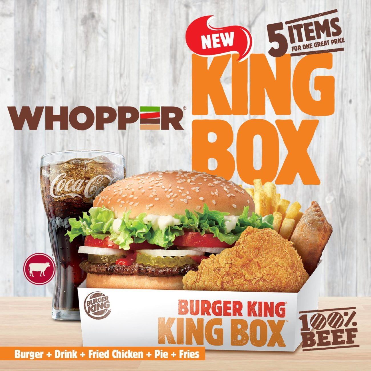 Burger Whopper King Box Promotion Aroma Asian
